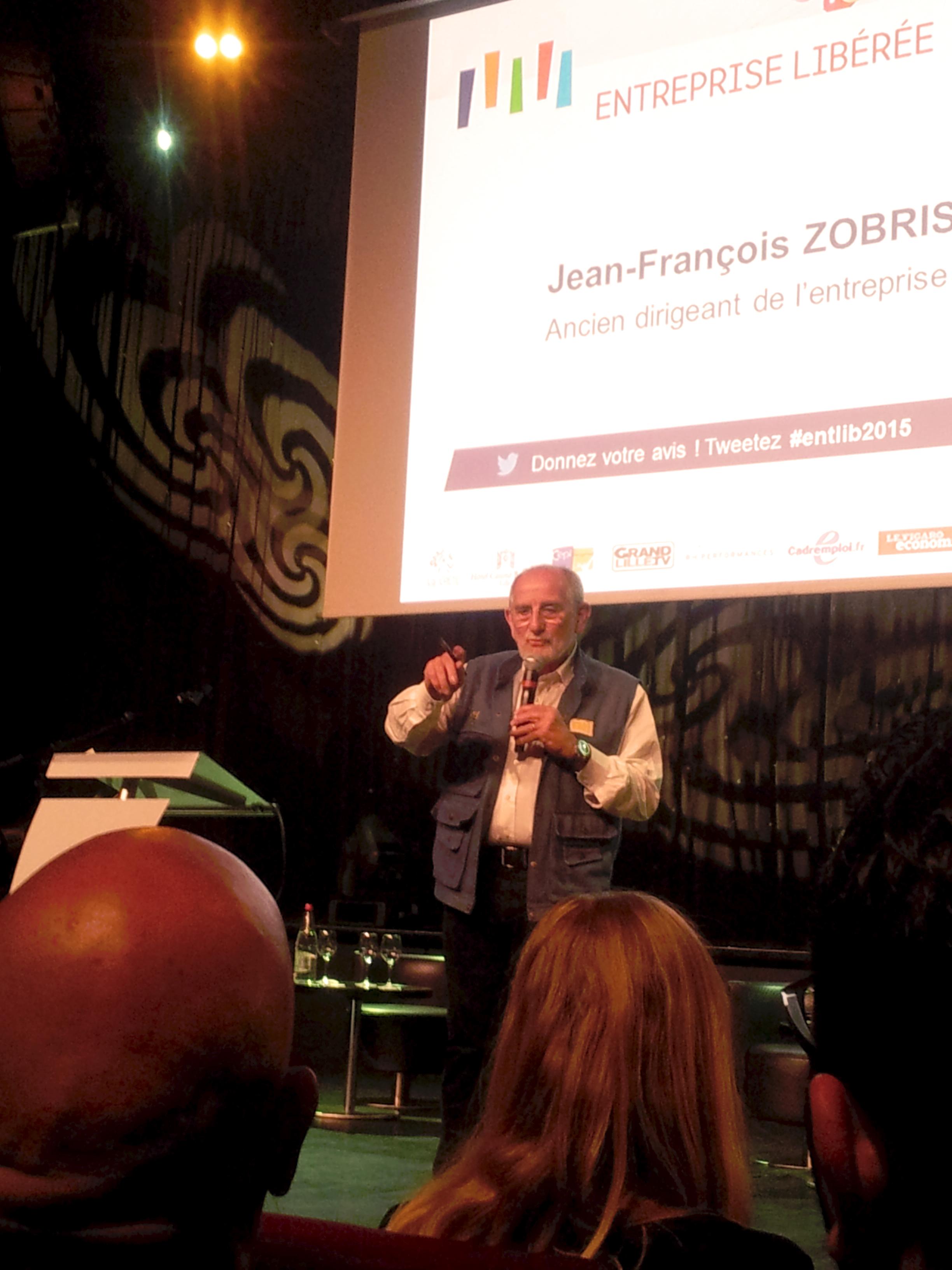 """Jean-François Zobrist à Lille devant 500 personnes parle de """"l'entreprise libérée Favi"""""""